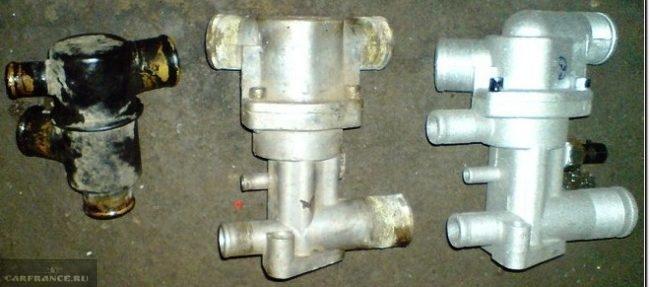 Термостат старого образца, нового и 6-ти дырочный на ВАЗ-2110