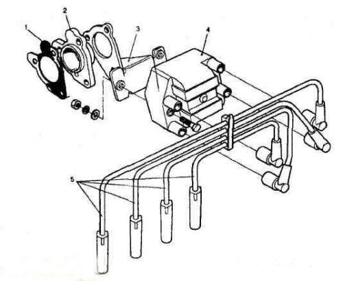 Схема элементов системы зажигания ВАЗ 2112