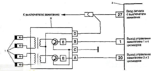 Схема модуль зажигания 2112