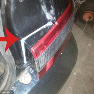 Нанесение герметика на кузов и установка заднего габарита на ВАЗ-2112