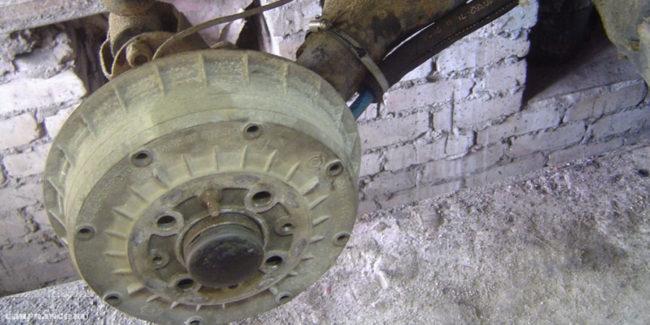 Снятие тормозного барабана на ВАЗ-2112