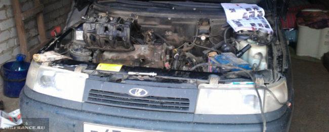Снятие ресивера двигателя ВАЗ-2112