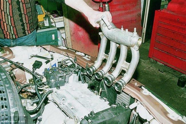 Снятие ресивер с двигателя 21120 на ВАЗ-2112