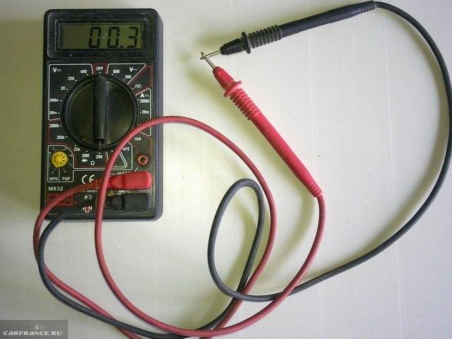 Проверка мультиметра для ВАЗ-2112