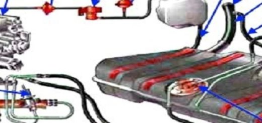 Топливная система 16-ти клапанной ВАЗ-2112 в схематичном виде