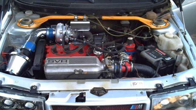 Под капотом ВАЗ-2112 с установленной турбиной