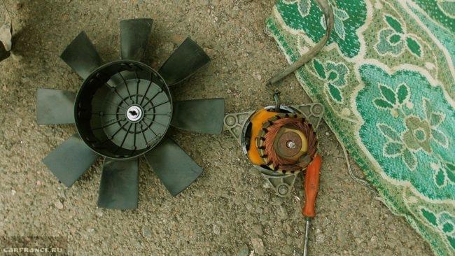 Вентилятор двигателя ВАЗ-2112