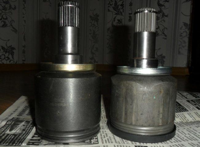 Старая и новая гранаты на ВАЗ-2112