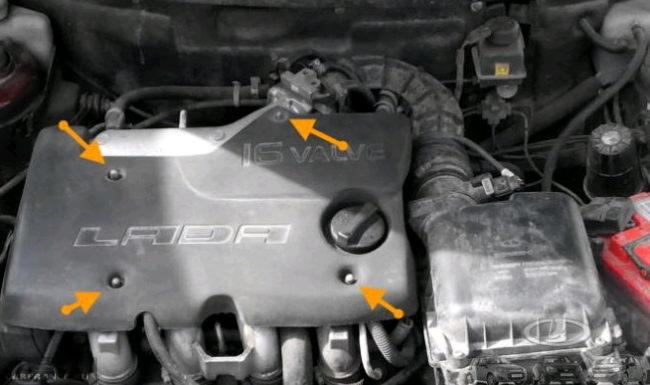 Декоративная защита на двигателе ВАЗ-2112