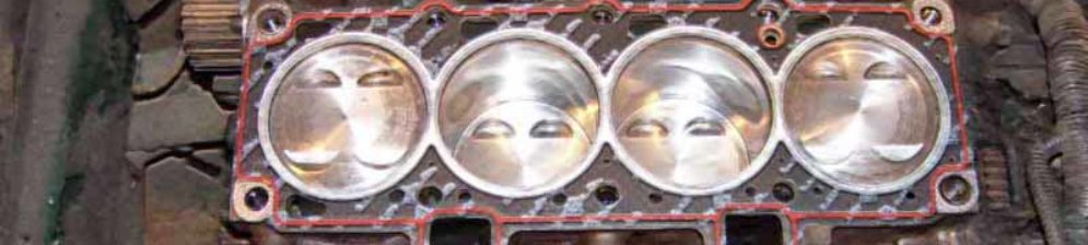 Новая прокладка ГБЦ на головке блока цилиндров ВАЗ-2112