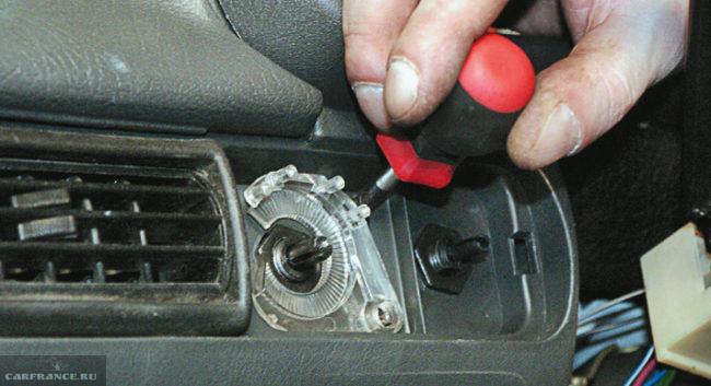 Демонтаж световода ВАЗ-2114