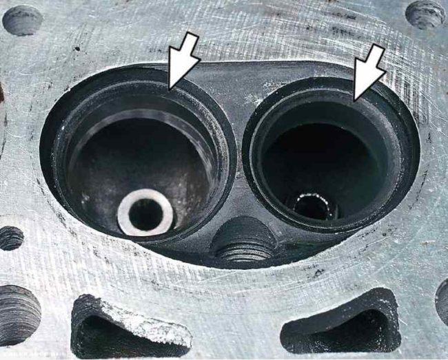 Расточенные сёдла клапанов на ВАЗ 2114