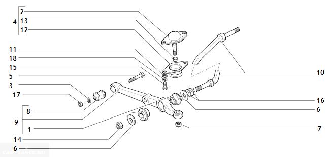 Рычаг и растяжка в подвеске ВАЗ 2112
