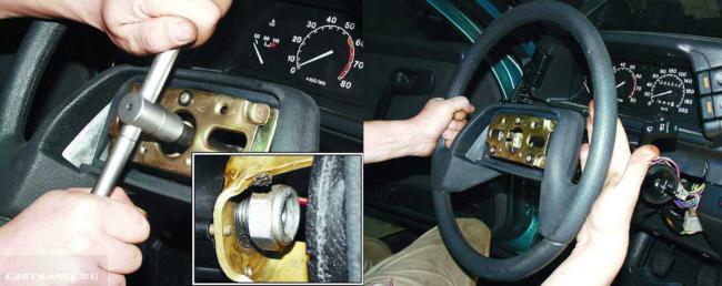 Снимаем руль на ВАЗ-2112