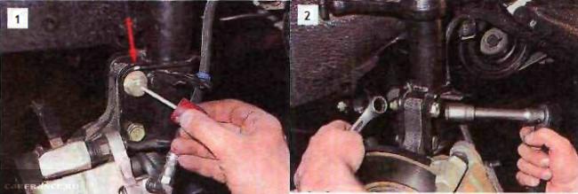 Крепление стойки к кулаку на ВАЗ 2112