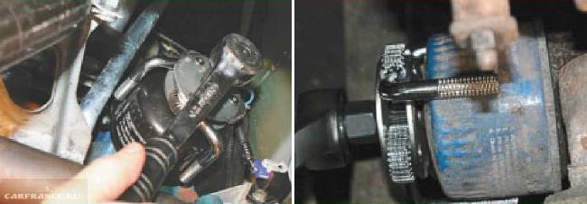 Маслофильтр на двигателе ВАЗ 2114