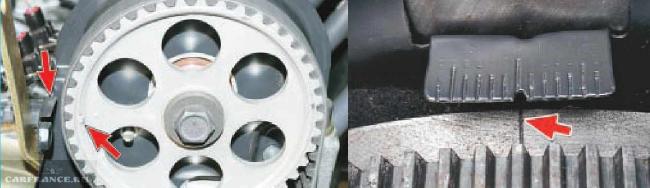 Совмещаем метки ГРМ на двигателе ВАЗ 2114