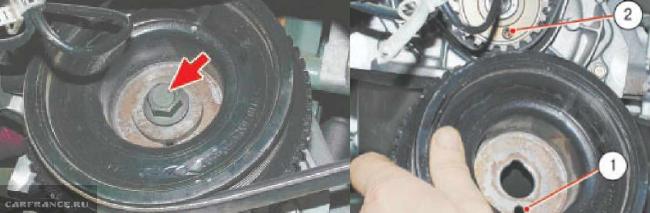 Снятие шкива генератора ВАЗ 2114