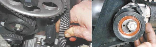 Настройка натяжения ремня ГРМ на моторе ВАЗ