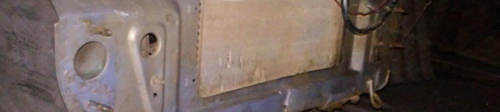 ВАЗ-2114 вид спереди бампер снят