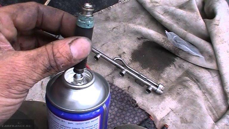 Как прочистить инжектор без снятия