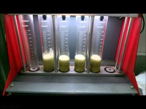 Процесс чистки форсунок ВАЗ-2112 на стенде