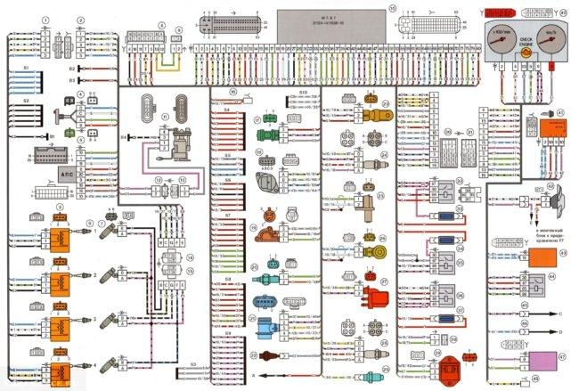 Схема электрики ВАЗ-2112