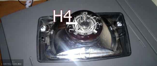 Цоколь H4 в противотуманных фарах на ВАЗ-2114
