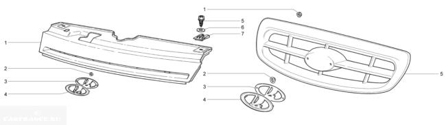 Решётка радиатора ВАЗ 2110 и 2112
