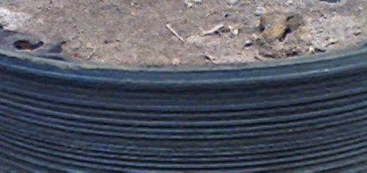 Сильно изношенная задняя тормозная колодка на ВАЗ-2112