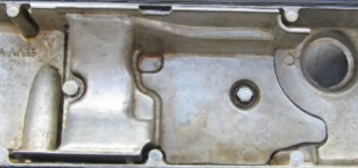 Клапанная крышка двигателя ВАЗ-2114 вид изнутри