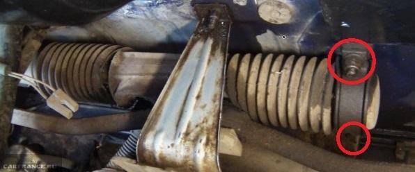 Крепление рулевой рейки ВАЗ-2112