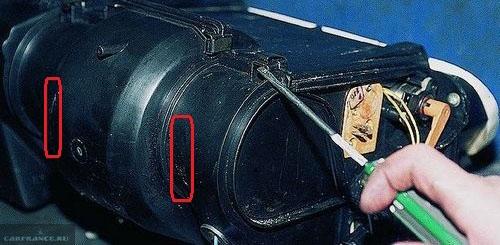 Моторчик печки в защитном корпусе на ВАЗ-2112