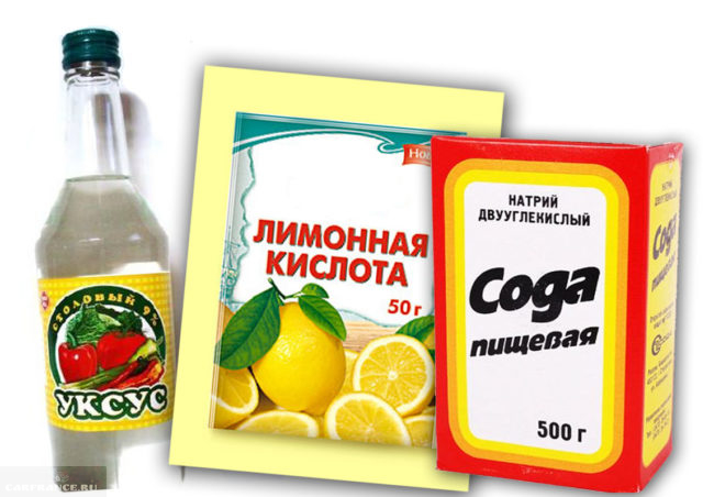 Сода, кислота и уксус