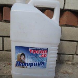 Упаковка из под поддельного ТОСОЛа на ВАЗ-2114