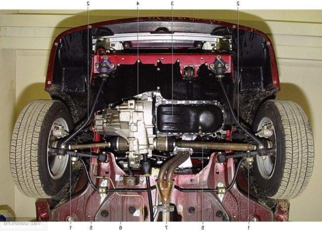 Передняя подвеска ВАЗ-2114