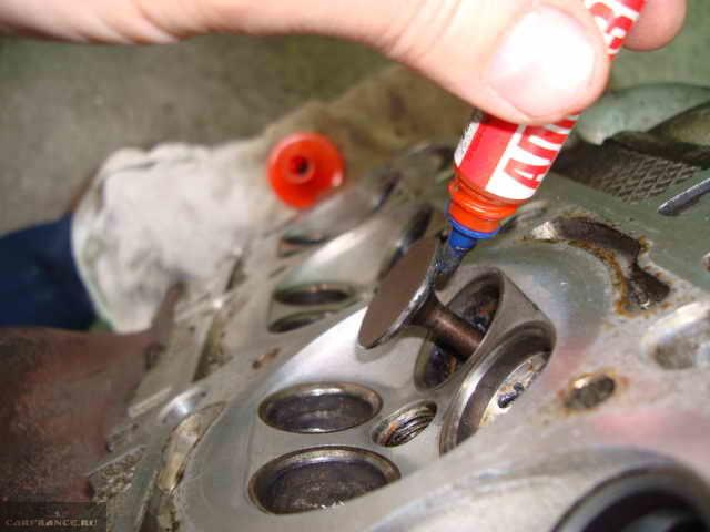 Притирка фаски клапана ВАЗ 2112