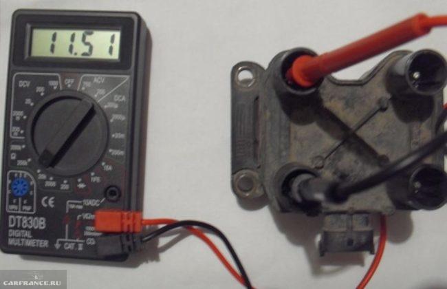 Проверка модуля зажигания мультиметром на ВАЗ-2114
