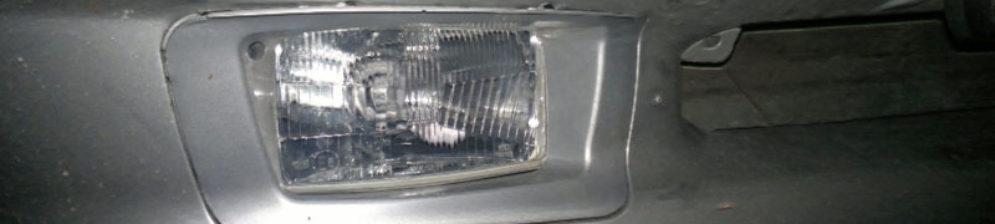 Корпус не оригинальной ПТФ в бампере ВАЗ-2114