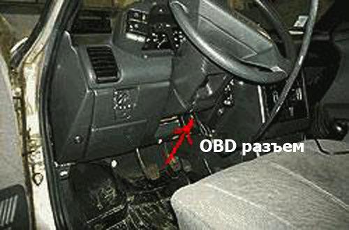 Разъем OBD ВАЗ 2112