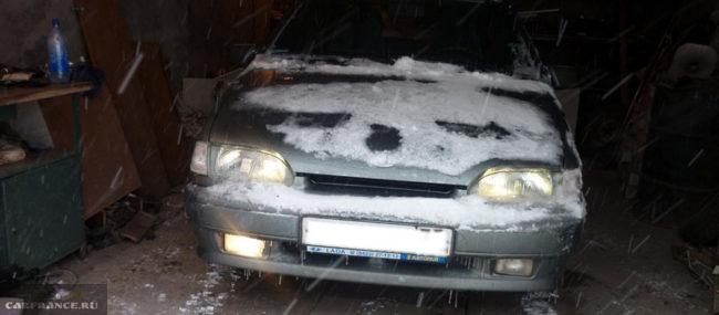 Перегорела одна стандартная лампа ПТФ на ВАЗ-2114