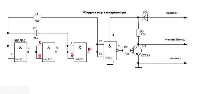 Электрическая схема моталки для Рено Логан