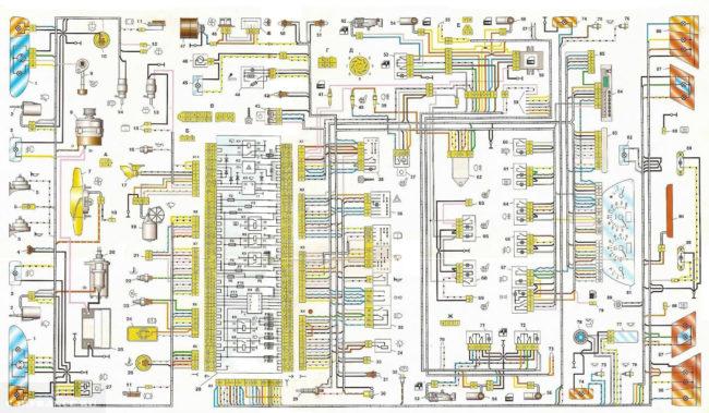 Схема электрооборудования ВАЗ-2114