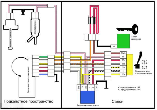 Распиновка и схема замка зажигания ВАЗ-2114
