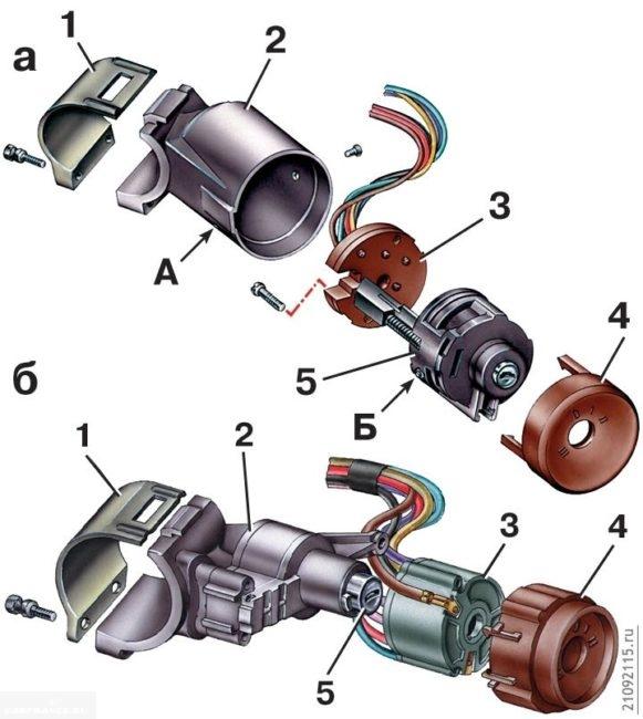 Схема замка зажигания ВАЗ-2114