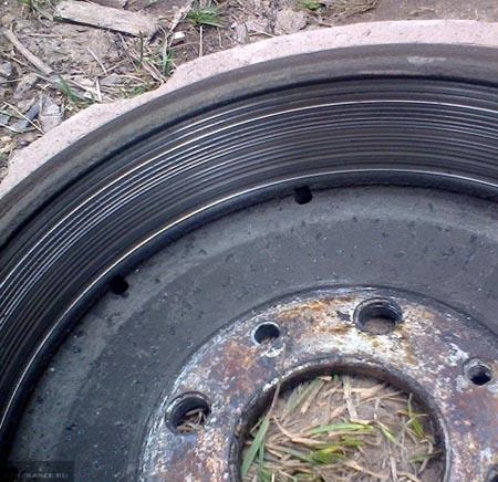 Сильный износ тормозного барабана на ВАЗ-2112