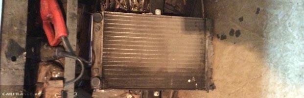 Подтёки ТОСОЛа на радиаторе охлаждения ВАЗ-2114