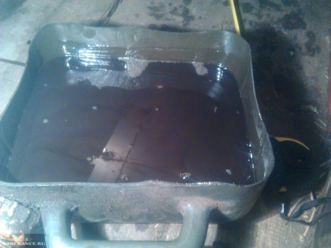 Ёмкость для слива масла с КПП на ВАЗ-2114
