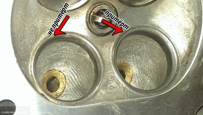 Притёртый и не притёртый клапан на двигателе ВАЗ-2112