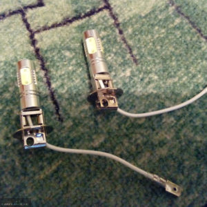 Светодиодные лампы в стандартный цоколь ПТФ на ВАЗ-2114